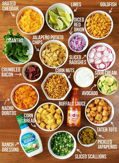 Set up your toppings bar! These are the toppings I like best, but you do you.