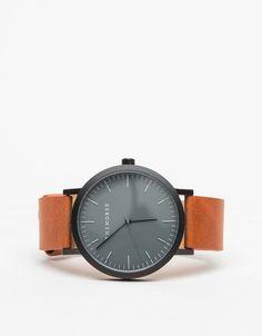 Matte Black/ Tan Watch