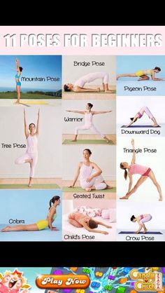 Yoga for beginners, love me some yoga. When I'm mad or stressed do some yoga.. really relieves it.... Especially work stress!!