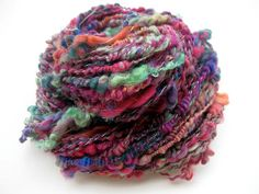 Handspun art yarn Nudibranch coils by coolclimates