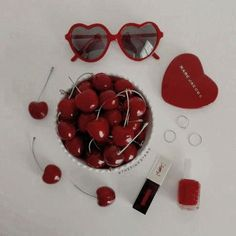 Love the cherry red Cheryl heart sunglasses from Alwaysfits Betty and Veronica products Cheryl Blossom Aesthetic, Lizzie Hearts, Riverdale Cheryl, Heather Chandler, Red Aesthetic, Makeup Aesthetic, Korean Aesthetic, Flower Aesthetic, Aesthetic Collage