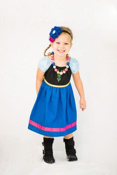 Anna Dress, Anna Play Dress, Frozen Anna Dress, Princess Anna Dress by sewadorablechildrens on Etsy https://www.etsy.com/listing/204558531/anna-dress-anna-play-dress-frozen-anna