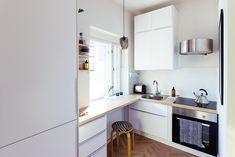 Studio kitchen, mini kitchen Studio Kitchen, Mini Kitchen, Studio Apartment, Kitchen Cabinets, Table, Furniture, Home Decor, Studio Apt, Decoration Home