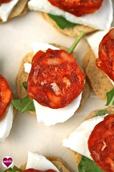 1000 images about canapes on pinterest mini muffin pan for Chorizo canape ideas
