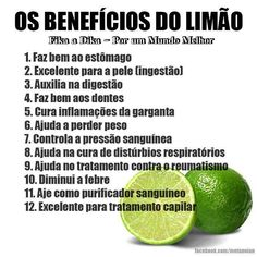 #Benefícios do #limão. Muito interessante! Saiba como fazer mais coisas em http://www.comofazer.org