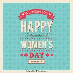 Tarjeta de felicitación del día Internacional de la Mujer
