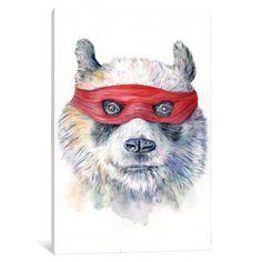 """Viv + Rae Panda Canvas Art Size: 40"""" H x 26"""" W x 1.5"""" D"""