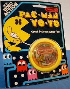 Made by Duncan toy company in 1980 this Pac-Man Yo Yo has video game action :)