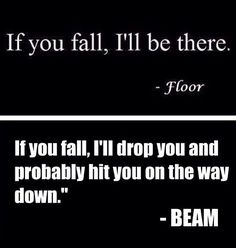 Ah Beam my nemisis...we either get on so well or not at all...lol, Aim this year to train more beam as is my least favourite...the more you train the better you will be!
