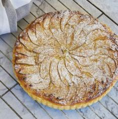 Edna's lemon curd cake - this is sweet lemon perfection Apple frangipane tart is easy to make using store bought pastry. A classic dessert that is super easy and delicious. The frangipane is made in minutes. Apple Cake Recipes, Tart Recipes, Almond Recipes, Baking Recipes, Dessert Recipes, Apple Cakes, Frangipane Recipes, Frangipane Tart, Apple Poke Cake