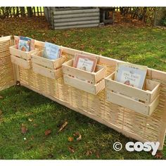 S HOOK FENCE BOOK CRATES The ideal way to pimp up your fence or create a book corner/outdoor library where you're working with these removable but chunky s hook book crates. Self draining. Good way to put books with each activity easily. Eyfs Classroom, Outdoor Classroom, Outdoor School, Calm Classroom, Eyfs Outdoor Area, Outdoor Play Areas, Outdoor Learning Spaces, Outdoor Education, Early Education