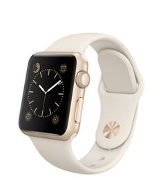 Apple Watch Sport - 38mm Gold Aluminum Case with Antique White Sport Band - Apple