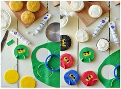 Lego Ninjago Cupcakes ~ DIY Recipe How to for your kids next party or playdate!