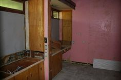 Existing woodwork and cabinets were carefully restored