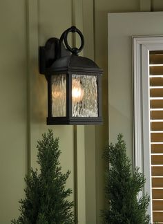 The one light outdoor lantern by Seagull Lighting is a great way to wrap up any outdoor project.