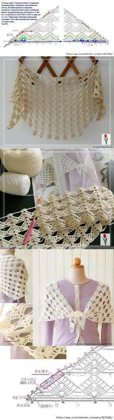 crochet shawl....♥ Deniz ♥