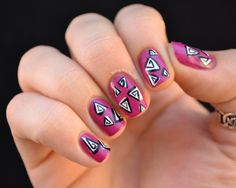Triangulate your position with this @Zoya_NailPolish freehand design.