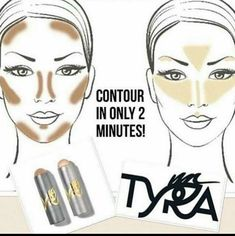Contour and highlight in minutes!! I'm awful at putting makeup on and this has made life so simple : ) tyra.com/beautywithbree