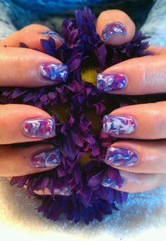 Light Elegance Gel: Marble gel nails