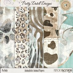 Animalistic Animal Papers :: Papers :: Memory Scraps