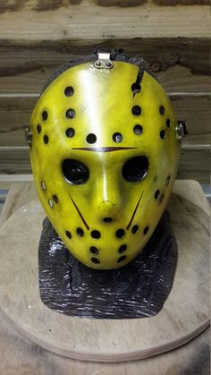 Friday 13th part 8 custom painted jason vorhees hockey mask,prop,replica,horror, by ManiacMasks on Etsy