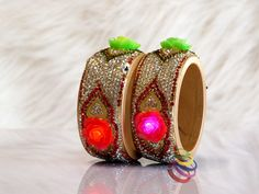 LED lighting Kada for Bridal Chura, suhag chuda, Punjabi chooda - Bridal Chura, Bridal Bangles, Cuff Bracelets, Led, Jewellery, Lighting, Jewelery, Jewlery, Lights