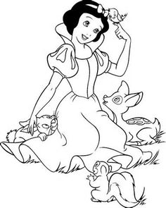 snow white coloring page 14