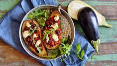 Lilek zapečený s mletým masem a mozzarellou Bruschetta, Mozzarella, Feta, Tacos, Mexican, Ethnic Recipes, Mexicans