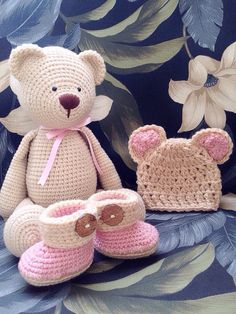 Hey, I found this really awesome Etsy listing at https://www.etsy.com/listing/208784844/crochet-teddy-bear-crochet-baby-girl-set