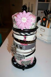 headband holder  Will definitely make this to organize Mai's Head band.  I think I can do this.  Cross your fingers for me.