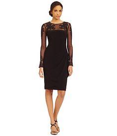 Xscape Beaded Illusion Sheath Dress | Dillard's Mobile