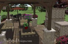 Cozy and intimate best describe our Curvy Outdoor Living Design with Pergola and Fireplace. Step-by-step installation instructions and itemized material list.