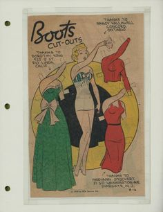 8-16-59 Boots paper doll / eBay