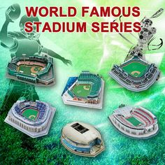 3D Puzzle USA Stadiums MLB NYY Yankees Chicago Cubs Boston Red Sox San Francisco