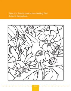 Worksheets: Coloring Page: Bugs in Nature!