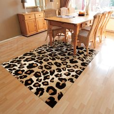 Love the #leopardprint rug @therugseller