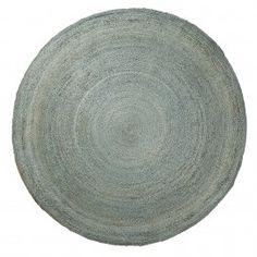Carpet Dip - Rond - 150 cm - Blauw - Laforma-Kave Stoer rond vloerkleed. Het vloerkleed is gemaakt van juten en heeft een doorsnede van 150 cm. Perfect voor in de woon -of slaapkamer!