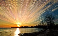 A time lapsed photo of a sunset created by Matt Molloy. He can use up 1000 different images for one picture.Picture: MATT MOLLOY / CATERS NEWS