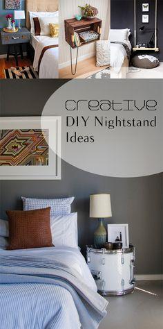 Creative DIY Nightstand Ideas