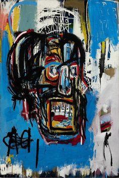 $5.99 - Jean-Michel Basquiat 1982 Art Silk Poster Print Home Decor #ebay #Collectibles Jm Basquiat, Jean Michel Basquiat Art, Graffiti, Basquiat Paintings, Most Expensive Painting, Street Art, Skull Painting, Artist Painting, Art Rooms