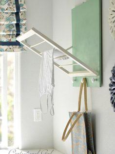 DIY: Laundry Room Drying Rack