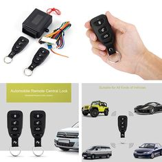 SANON Universal Car Door Lock Keyless Car Central Lock Entry System Central Locking Remote Control Kit
