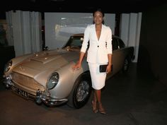 """Naomie Harris from Skyfall at the """"Bond in Motion"""" exhibition of James Bond film vehicles in London"""