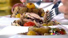 """- Plat / Viande - Anne Alassane vous propose sa recette des """"Pintade farcie au riz noir roulée aux herbes"""" inspirée de la recette d'Anne-Sophie """"Ballotins de poulets farcis et son risotto de champignons"""""""