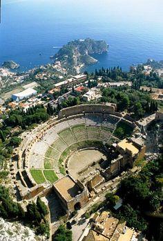 Teatro antico di Taormina, Messina, Sicilia.