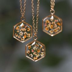 Hexagon Necklace in Gold-fill - Hello Halsted Cute Jewelry, Diy Jewelry, Jewelry Box, Jewelry Accessories, Fashion Jewelry, Jewelry Making, Jewlery, Girls Jewelry, Accesorios Casual