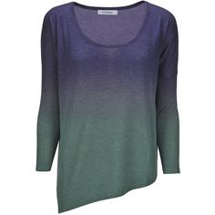 Asymmetric Slouchy Tee Navy/Green (1.255 VEF) ❤ liked on Polyvore featuring tops, t-shirts, shirts, sweaters, blusas, asymmetrical shirt, slouchy t-shirt, green top, asymmetrical t shirt and navy shirt