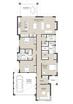 Scandia Exclusive - Switch Homes Bedroom House Plans, Dream House Plans, House Floor Plans, Home Design Floor Plans, Floor Design, Hotondo Homes, Craftsman Bungalow House Plans, Narrow House Plans, House Blueprints