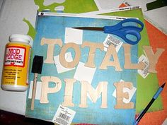 how to modge podge paper to wood letters. need this for the boys' rooms! I'm going to get all the wooden letters for their names for each of their rooms Modge Podge On Wood, Diy Mod Podge, Mod Podge Crafts, Wood Letters Decorated, Wooden Letters, Crafts To Make, Fun Crafts, Crafty Craft, Crafting