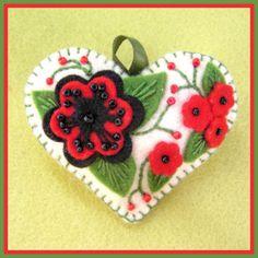 Felt Jolion Happy Heart Poppy